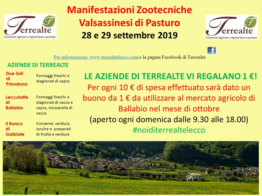 Fiera di Pasturo 28 - 29 settembre 2019